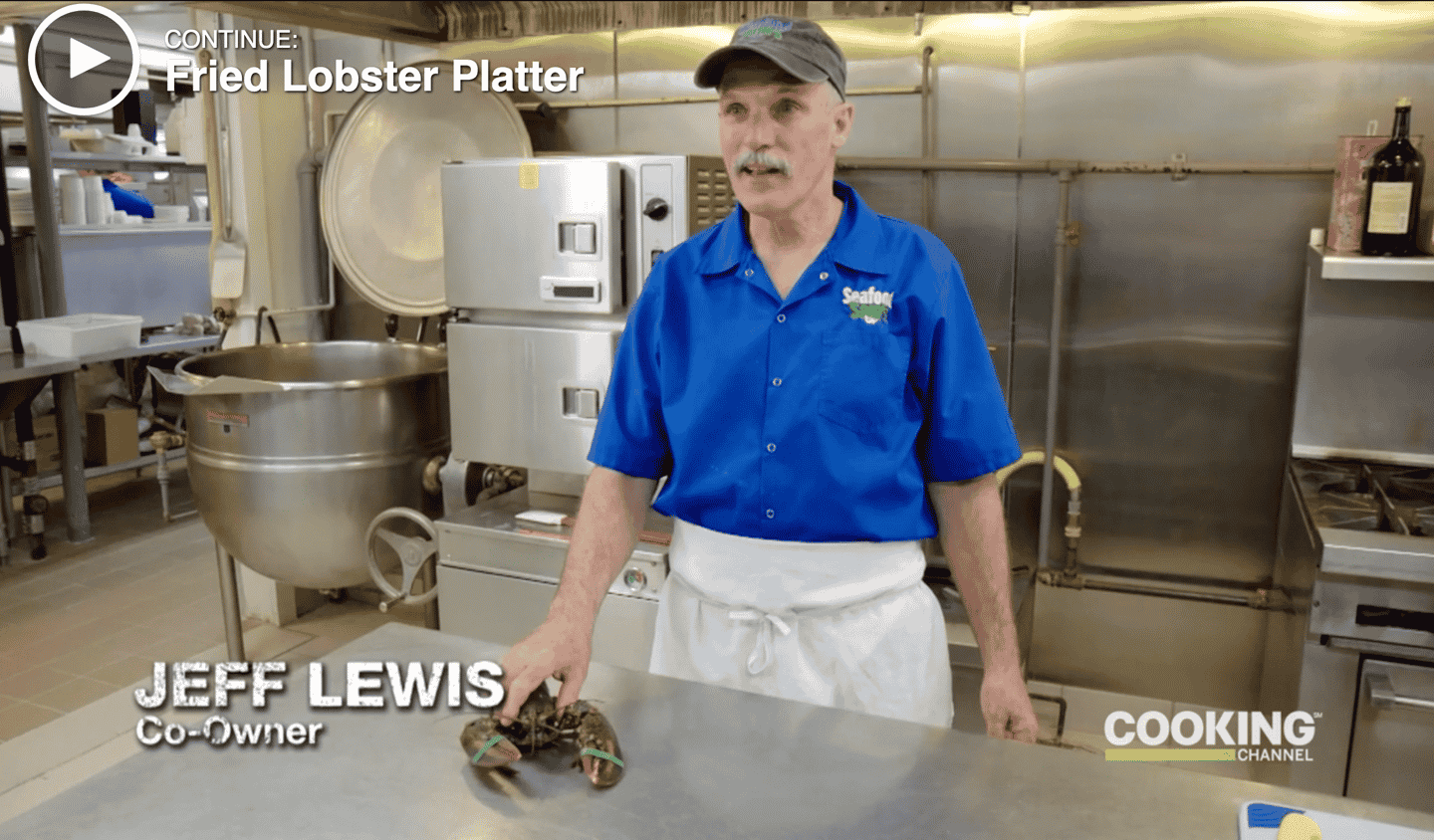"Sam's fried lobster platter is featured in Cooking Channel TV show ""The Best Thing I Ever Ate."""