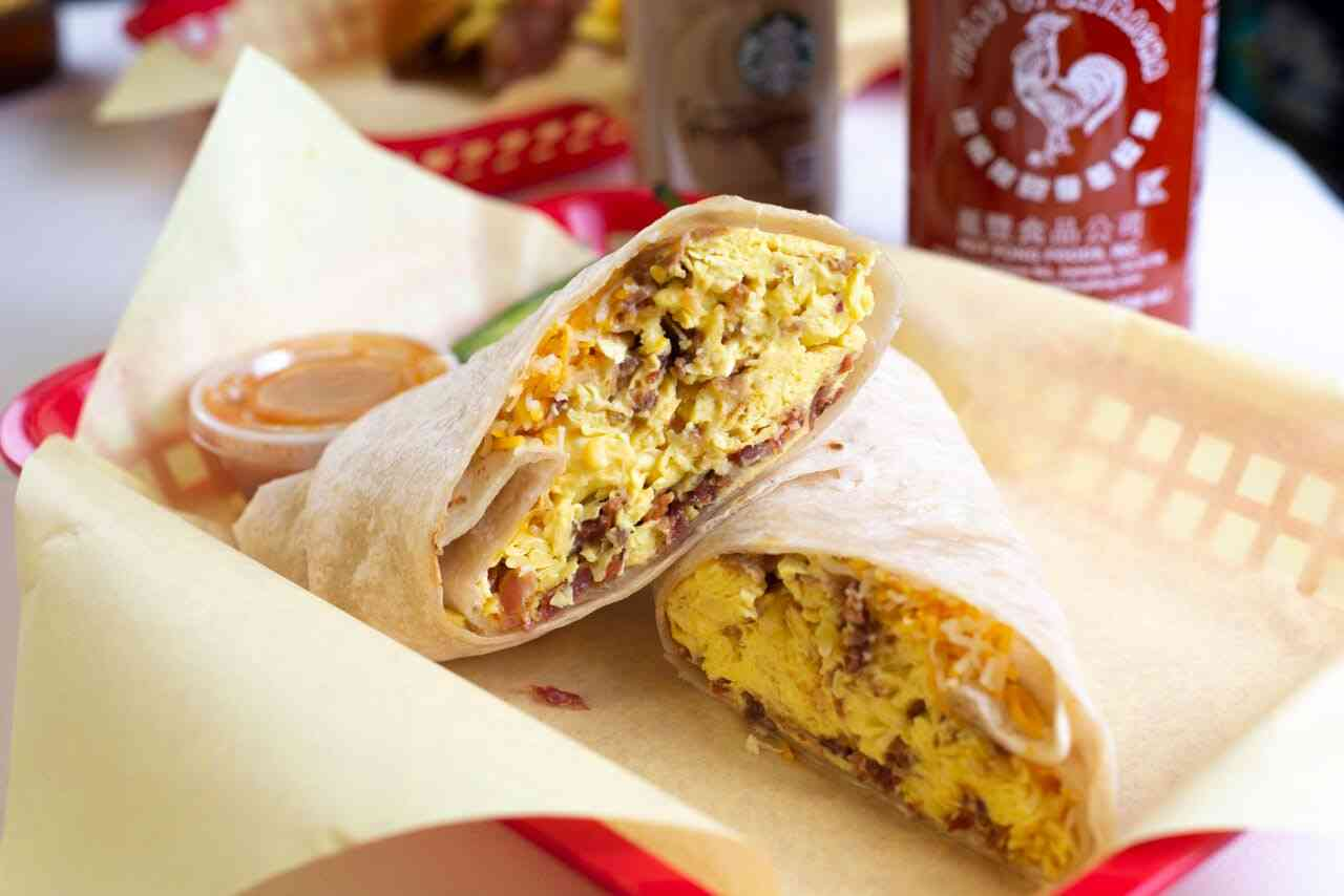 Breakfast Burrito Bacon, Egg and Cheese