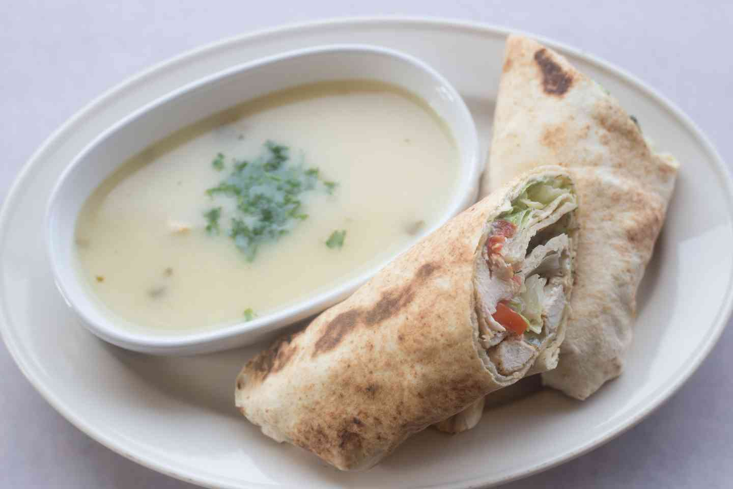 Soup and Wrap