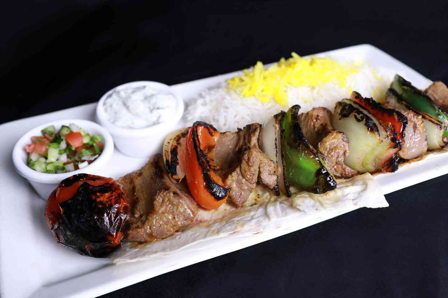 Filet Mignon Shish Kabob Plate