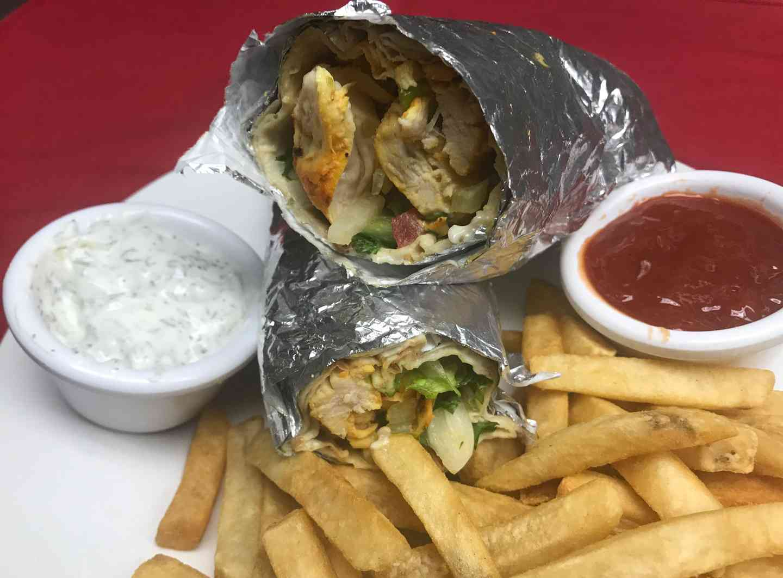 Chicken Kabob Wrap