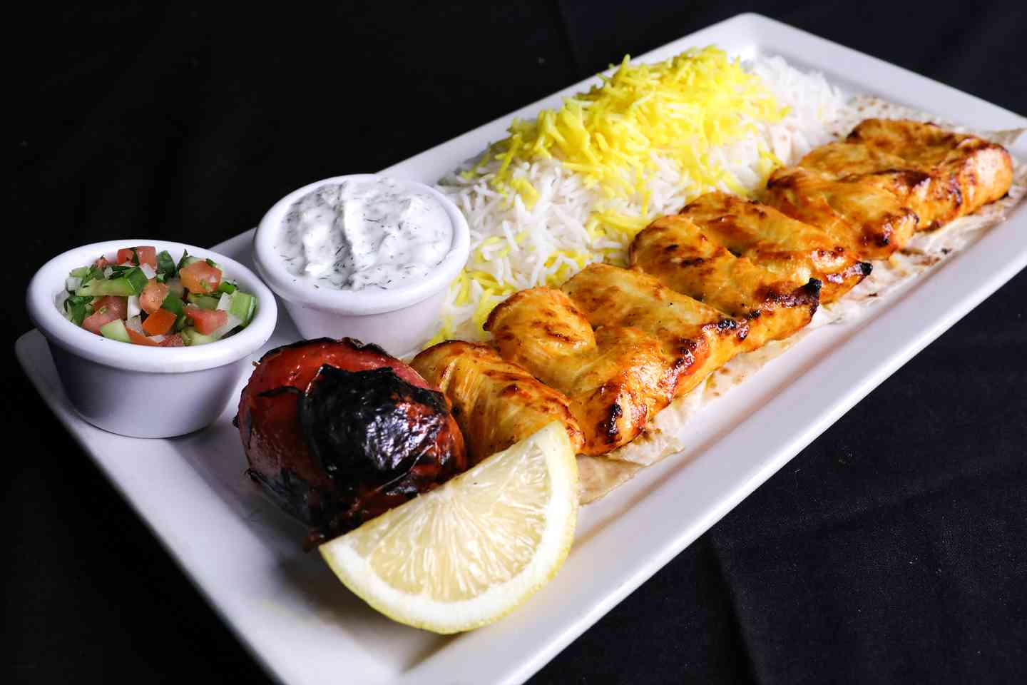 Chicken Breast Kabob Plate