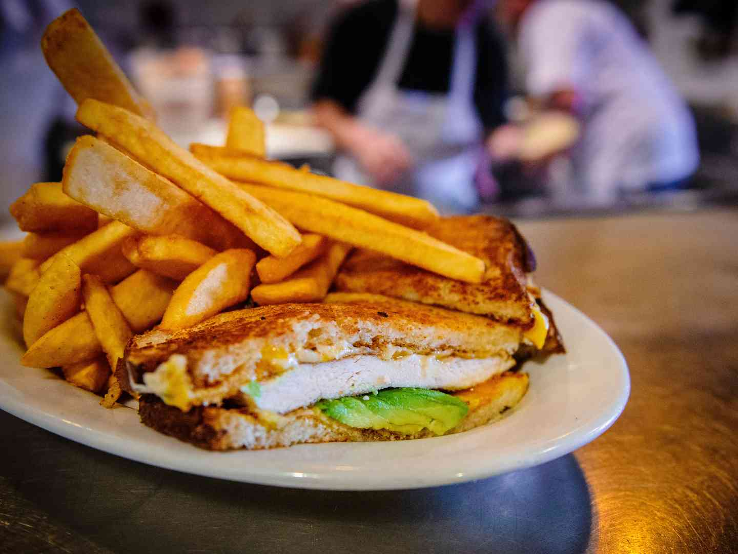 Grilled Chicken and Avocado Melt