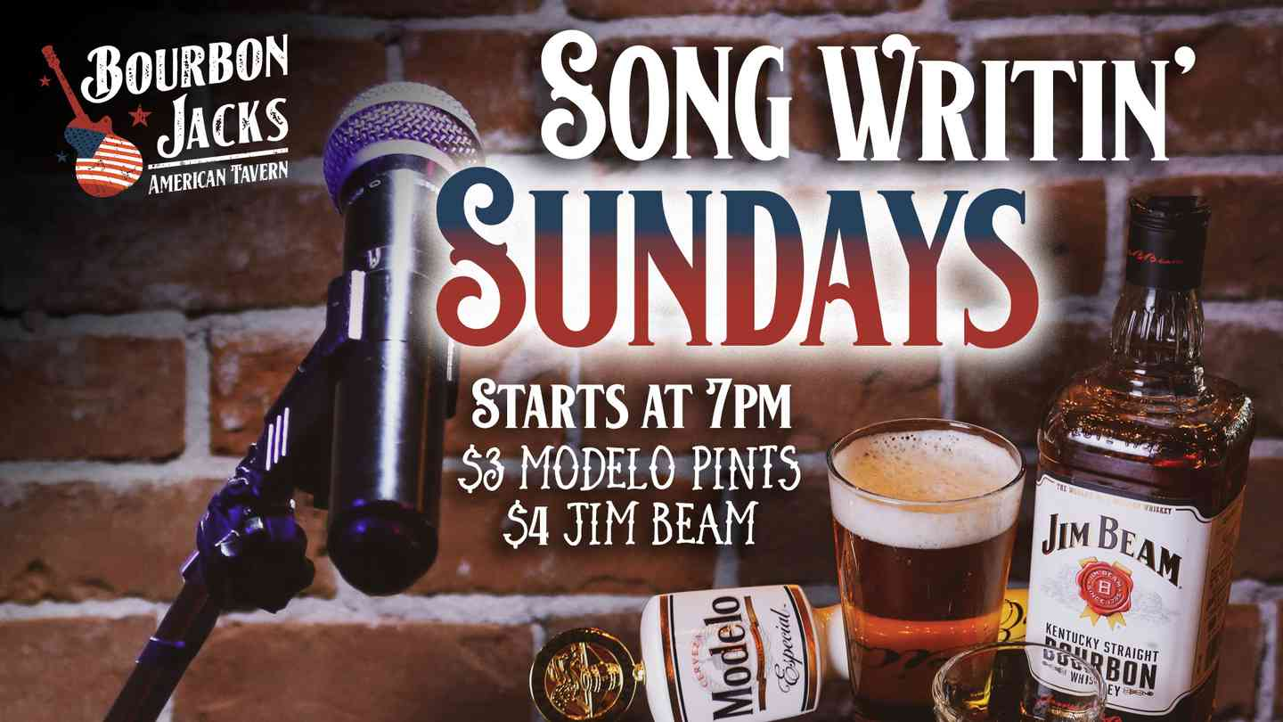 On Sunday, this is YOUR BAND! Live band open mic night begins at 8PM. Drink specials all night long. $3 Modelo Pints, $4 Jim Beam