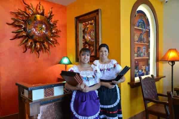 waitresses with menus