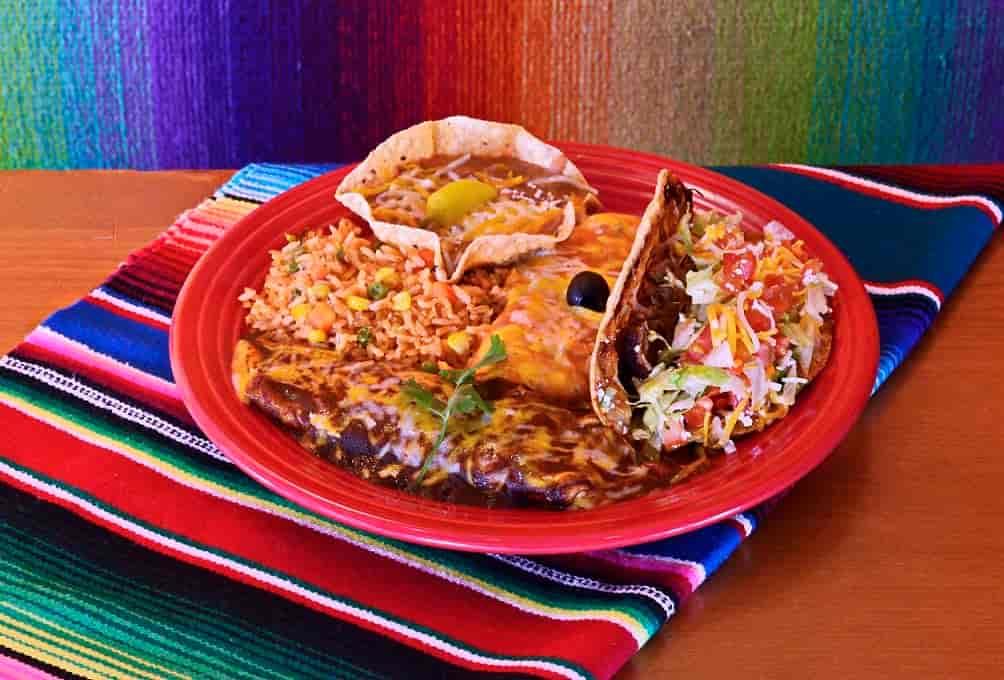Combo # 6 - Cheese Enchilada, Chile Relleno & Tamale