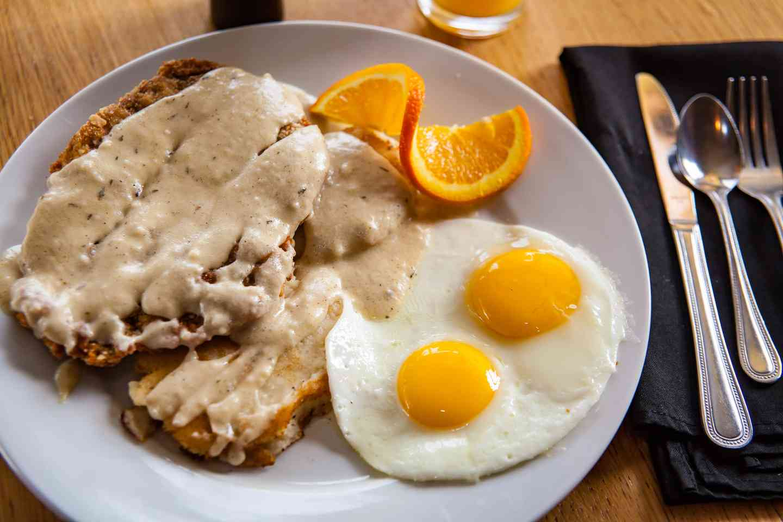 Chicken-Fried Steak and Eggs
