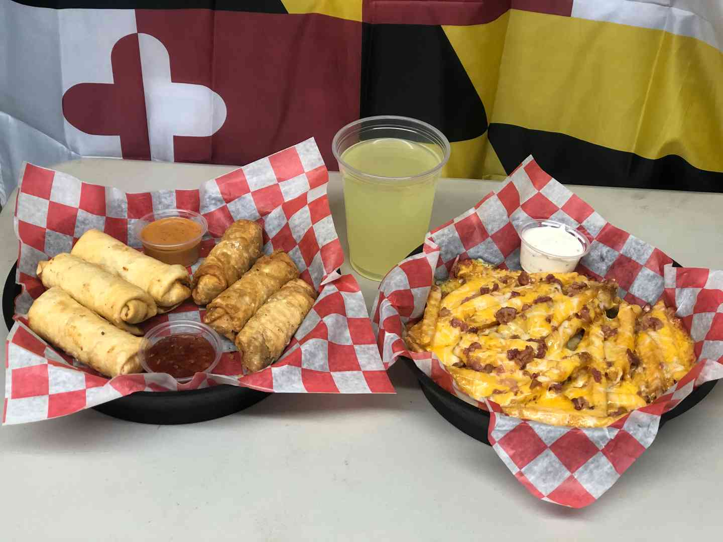 Tuesday - Steak and Cheese or Chicken Sante Fe Eggrolls Basket
