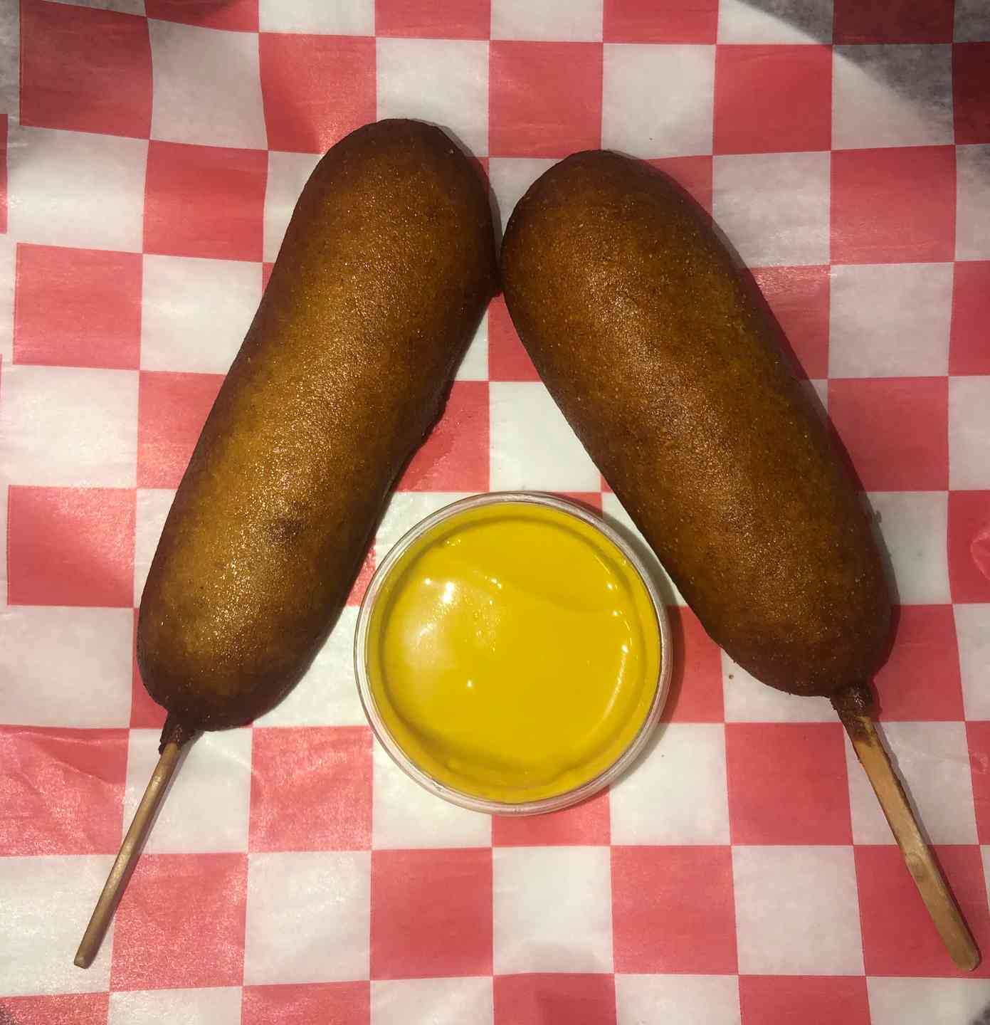 Large Corn Dogs on a Stick