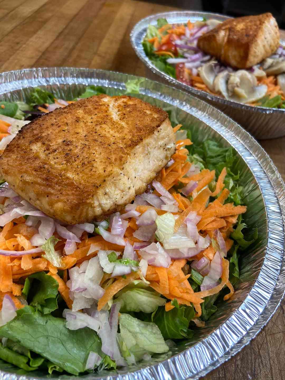 Jerk Salmon Salad Large