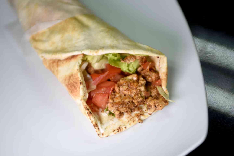 Chicken Shawarama Pita Roll