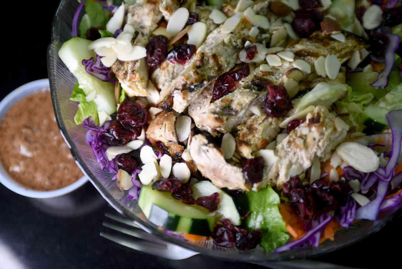 Chicken, Cranberry & Bleu Cheese Salad