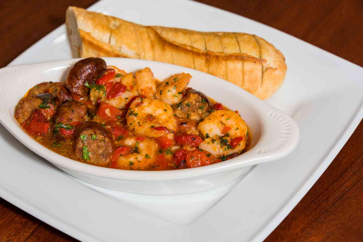 Garlic Shrimp & Sausage Sauté