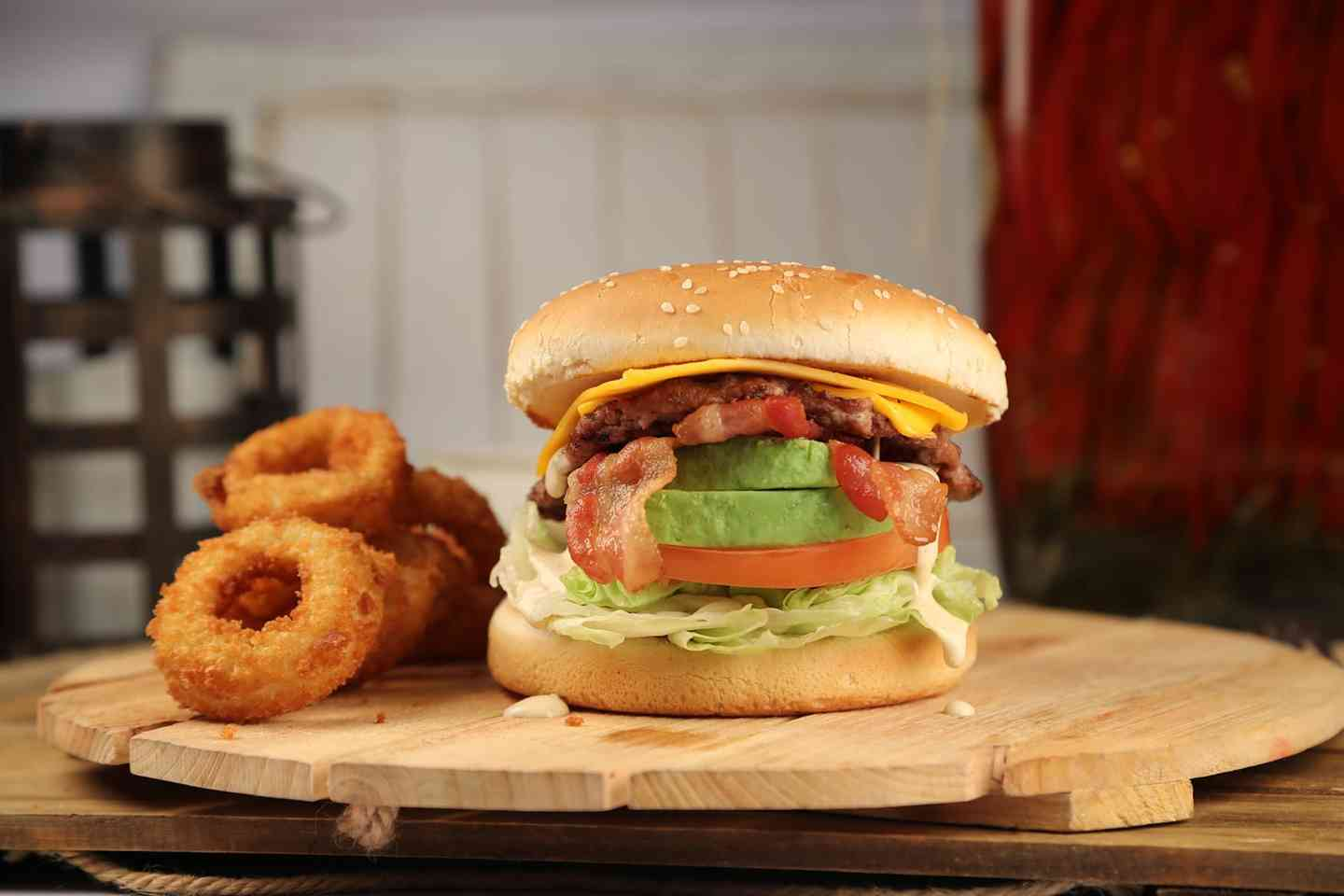 Avocado Bacon Cheeseburger Combo