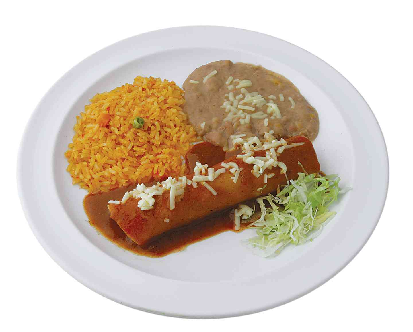 Jr. Cheese Enchilada Plate