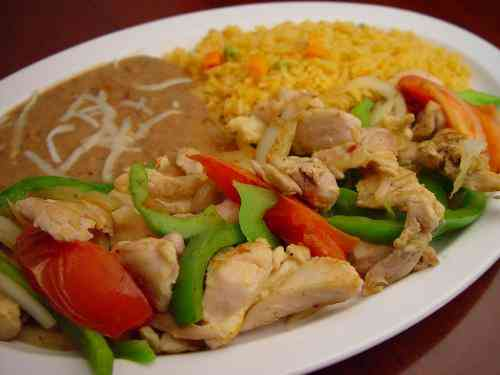 56. Chicken Fajitas