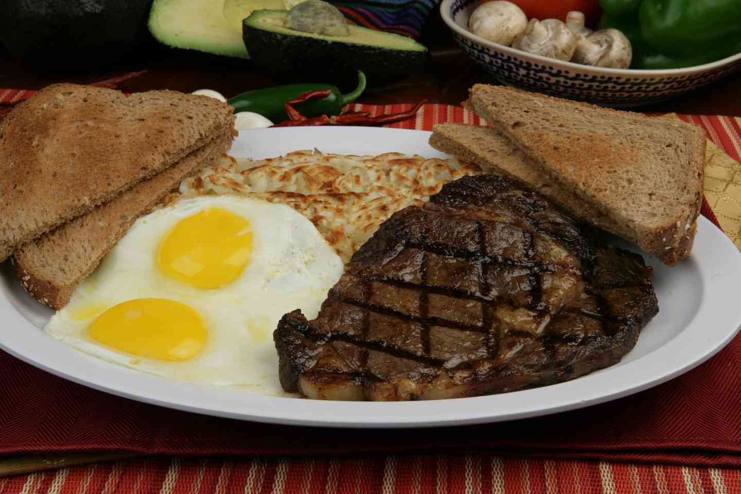 2. Steak and Eggs