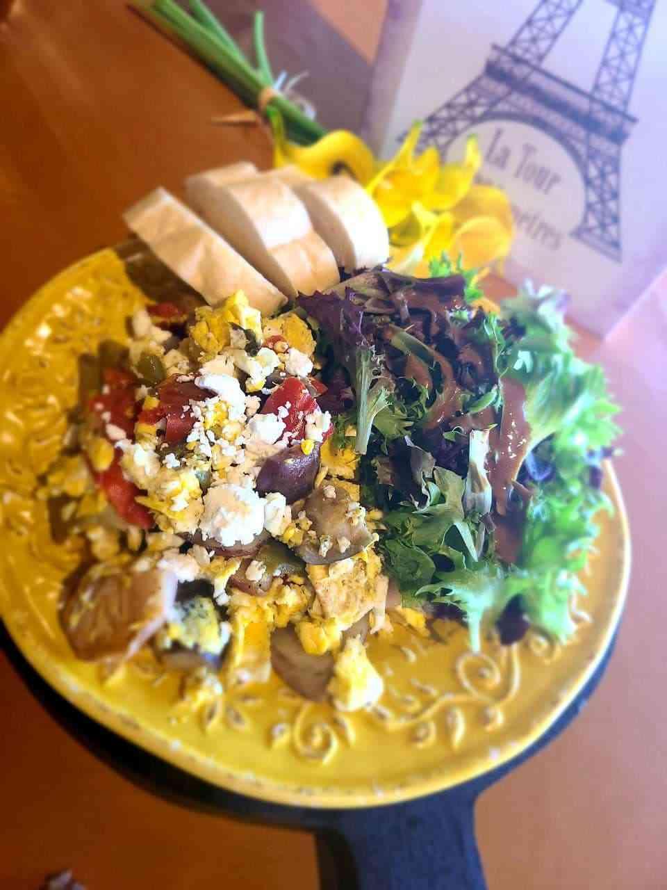 Roasted Vegetable Scramble