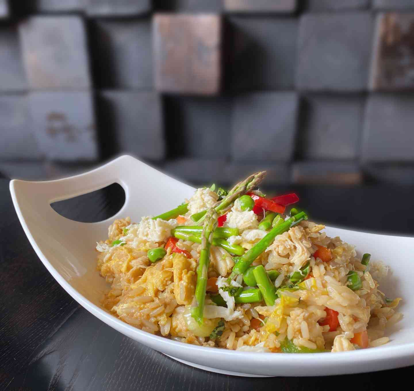 Crab Aspargus Fried Rice