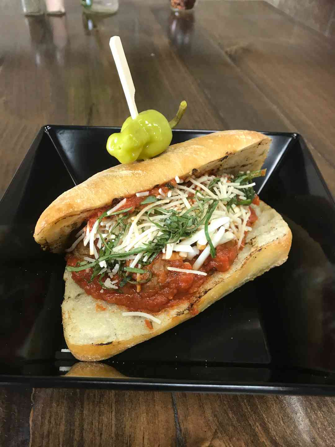 Meatball on a Ciabatta