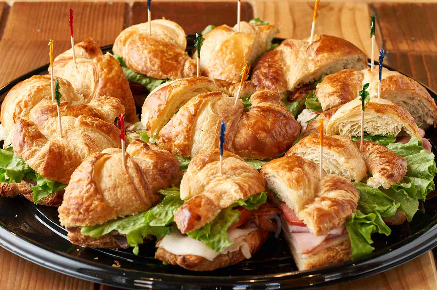 croissant catering trays