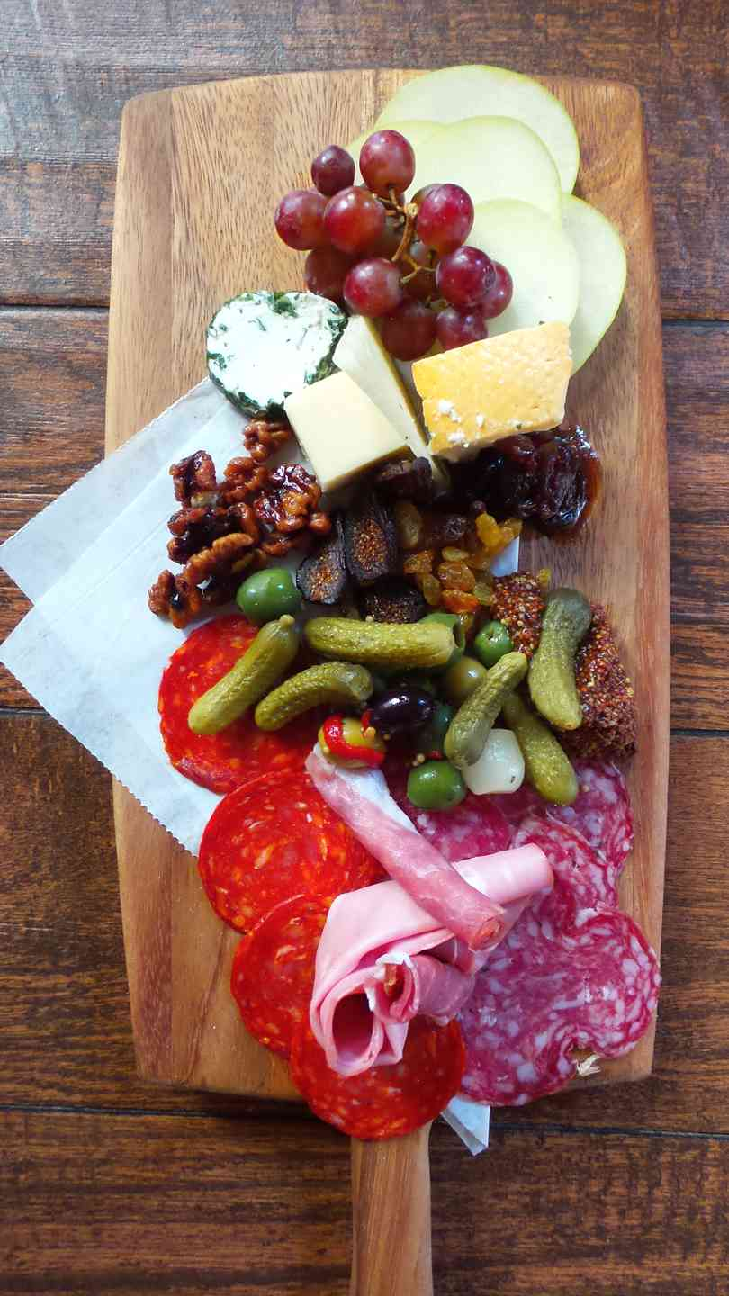 Artisan Cheeses and Cured Meats Board