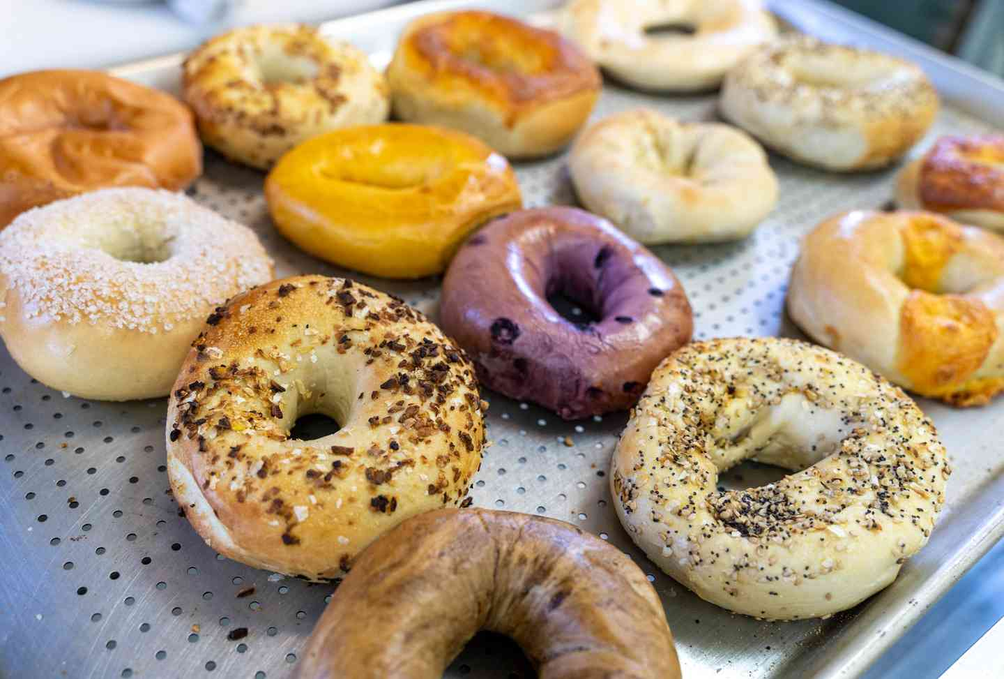 tray of bagels