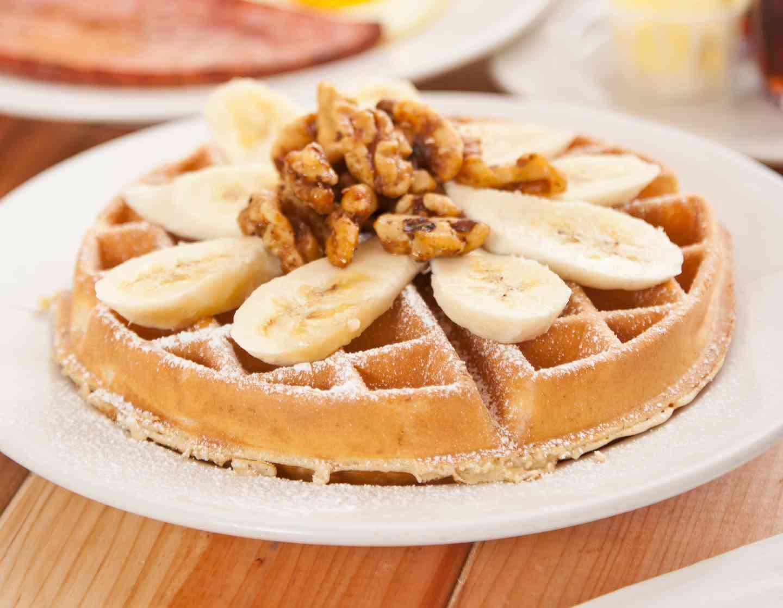 Banana Nut Belgian Waffle
