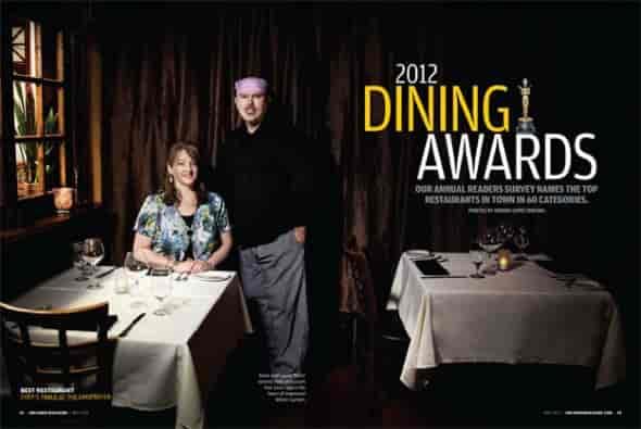 dining awards spread