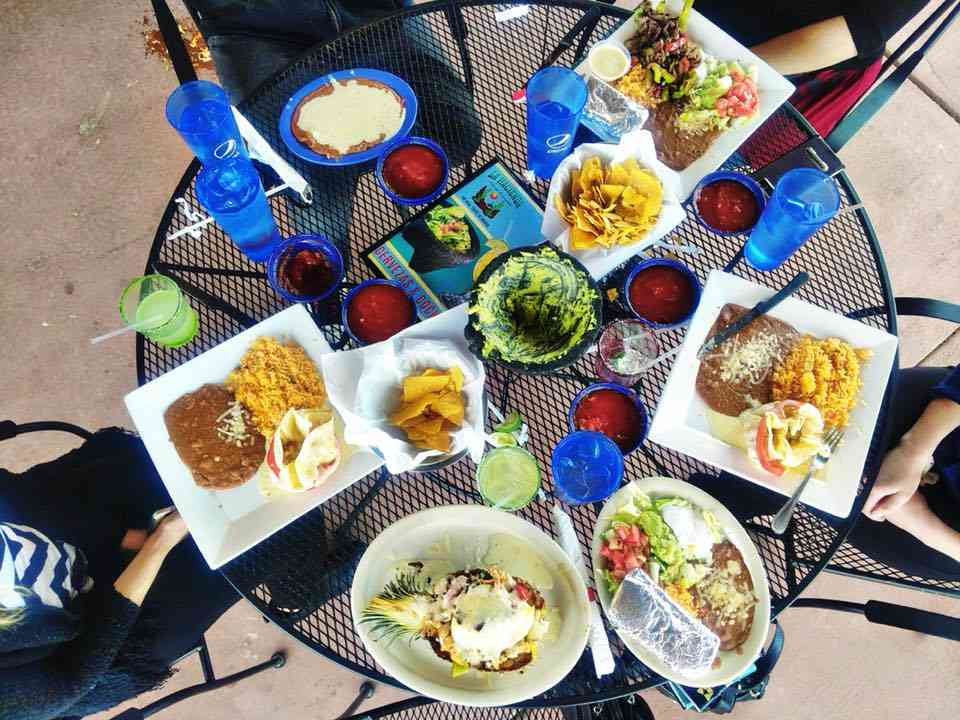 patio drinks and food