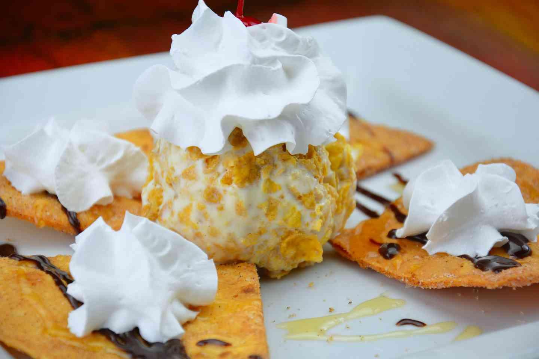 Sopapilla with Ice Cream