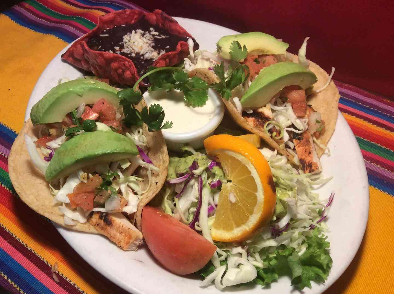 Grilled Chicken & Avocado Tacos