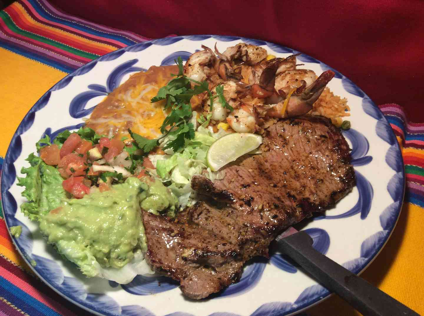 Carne Asada & Grilled Shrimp