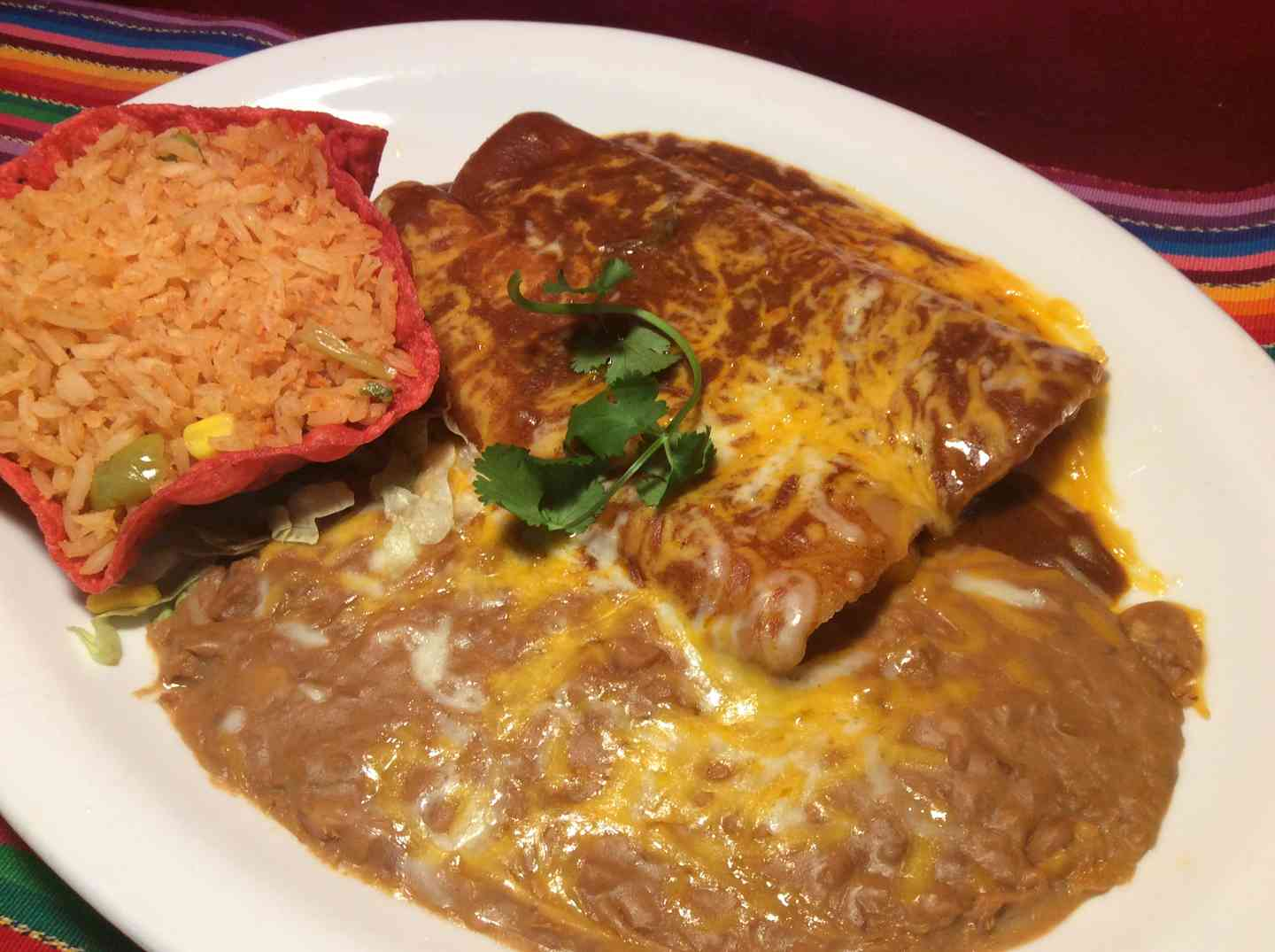 Combo # 5. Two Enchiladas
