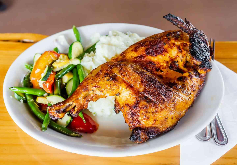 Achiote Roasted Half Chicken