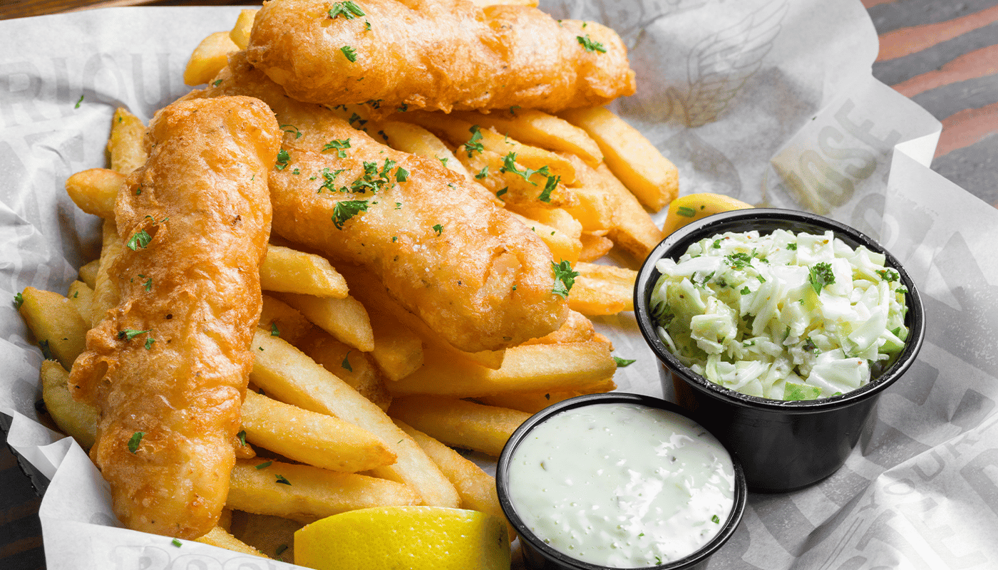 Beer Battered Alaskan Cod & Chips