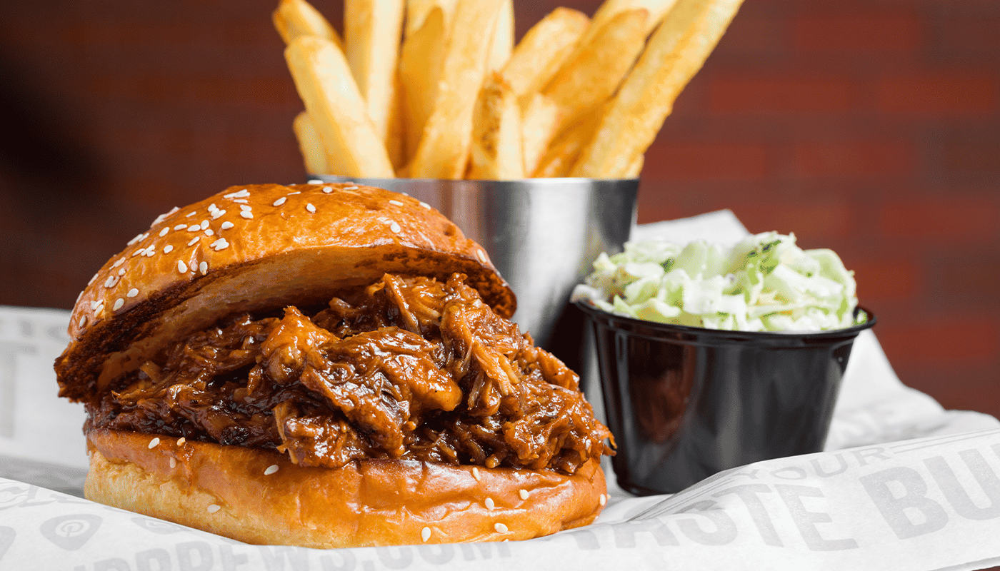 'We Salute You' Pulled Pork Sandwich