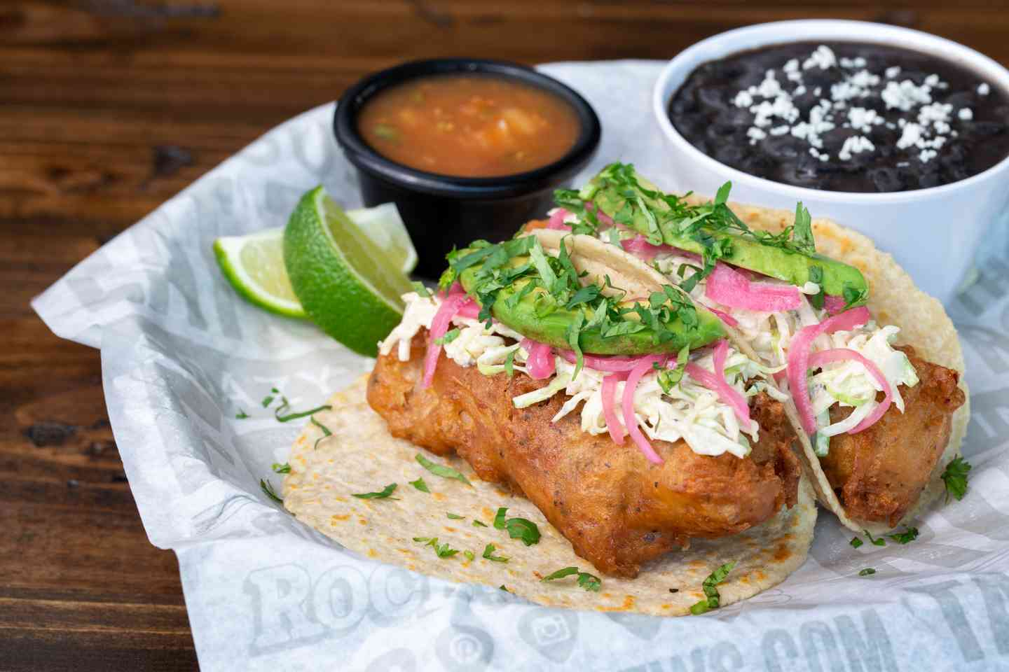 Baja Beer-Battered Fish Soft Tacos