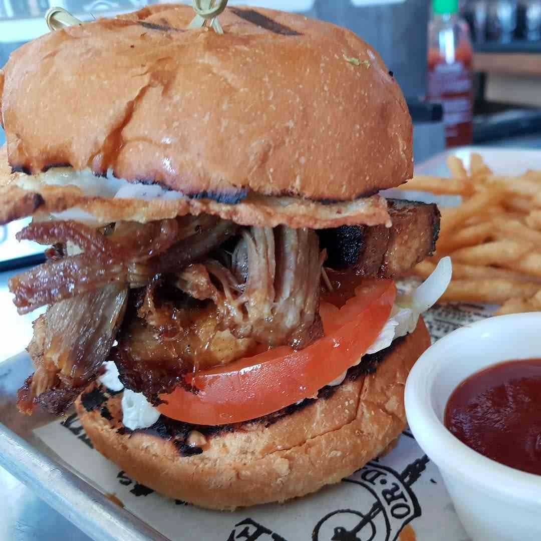 BBQ Pork Belly Burger