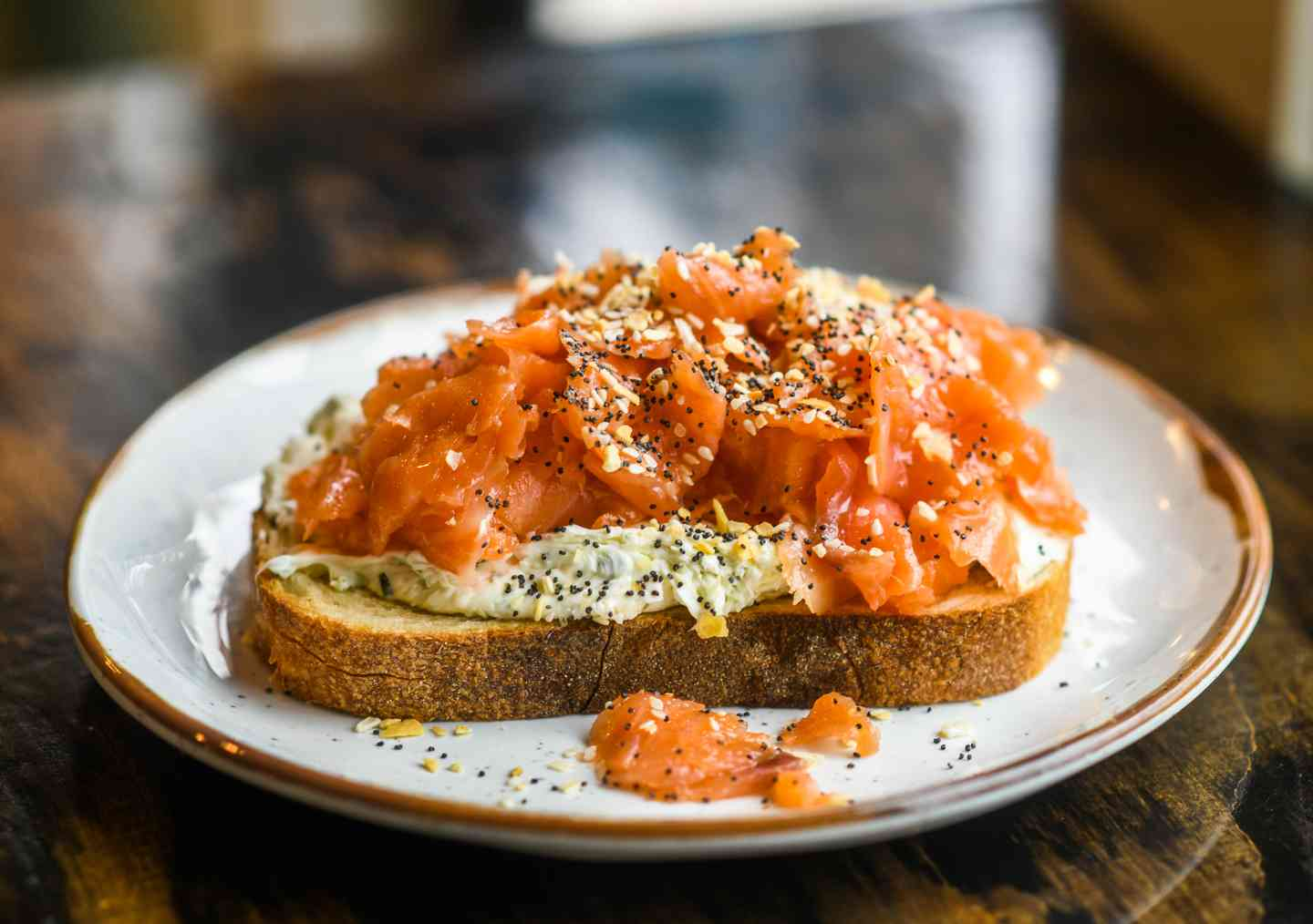 Salmon Cream Cheese Toast
