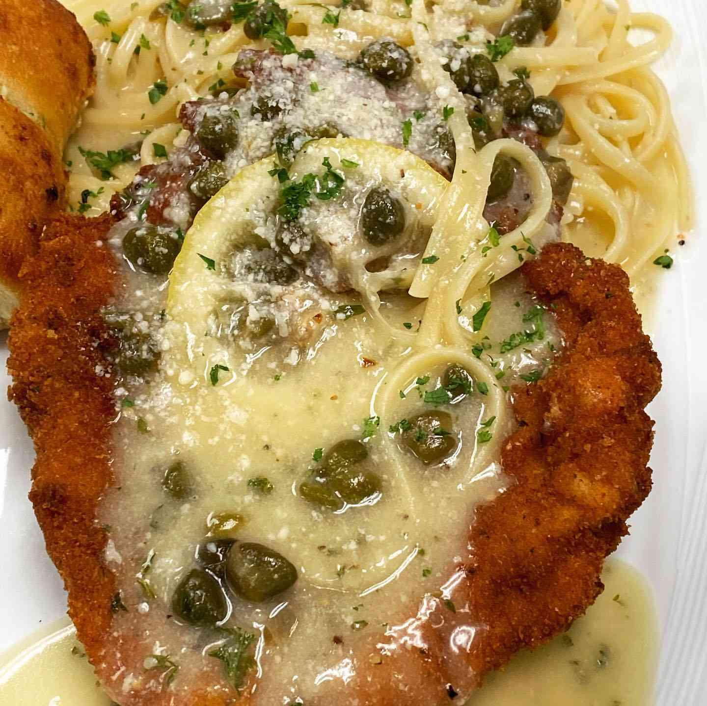 Crispy Chicken Piccata