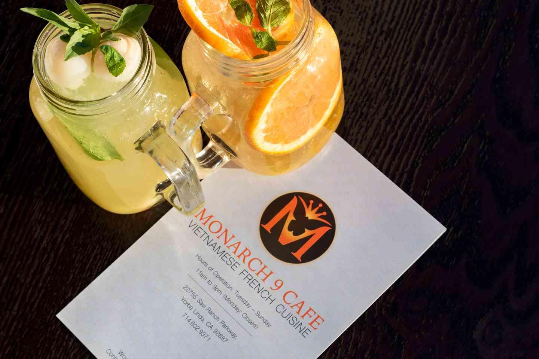 menu and drinks