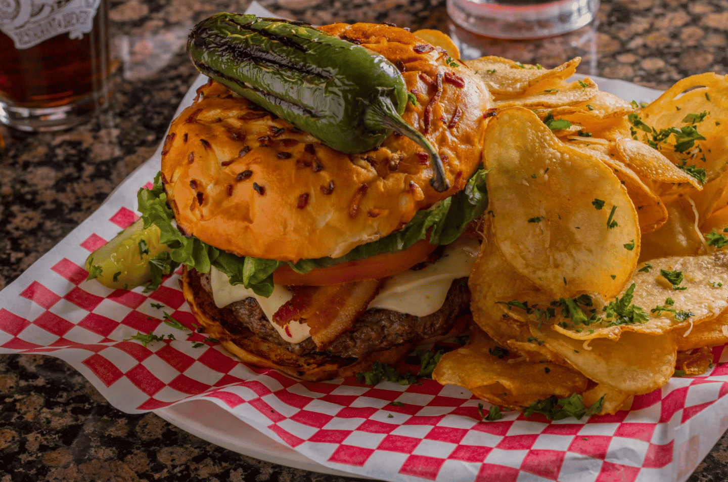 "The ""Phat Jack"" Jalapeno Burger"