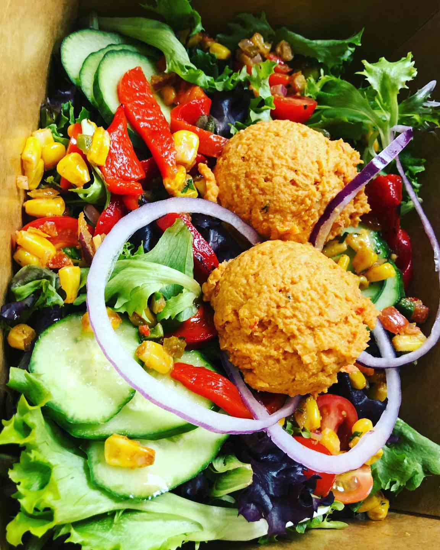 Chicken Hummus Salad