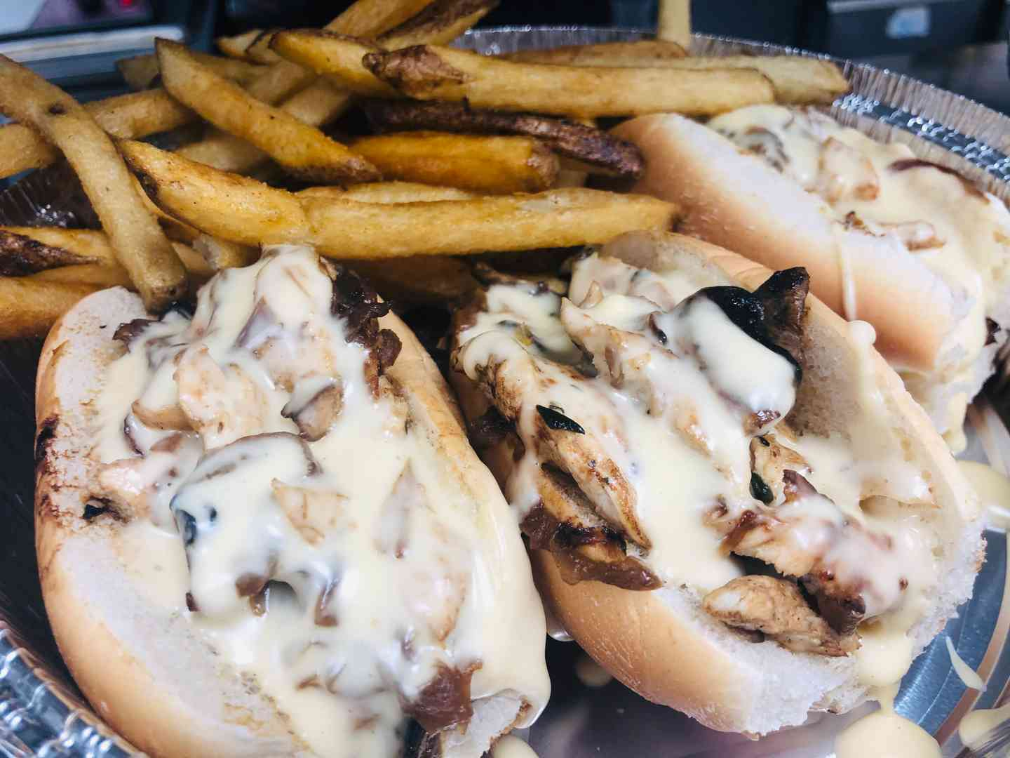 Chicken Philly Sliders