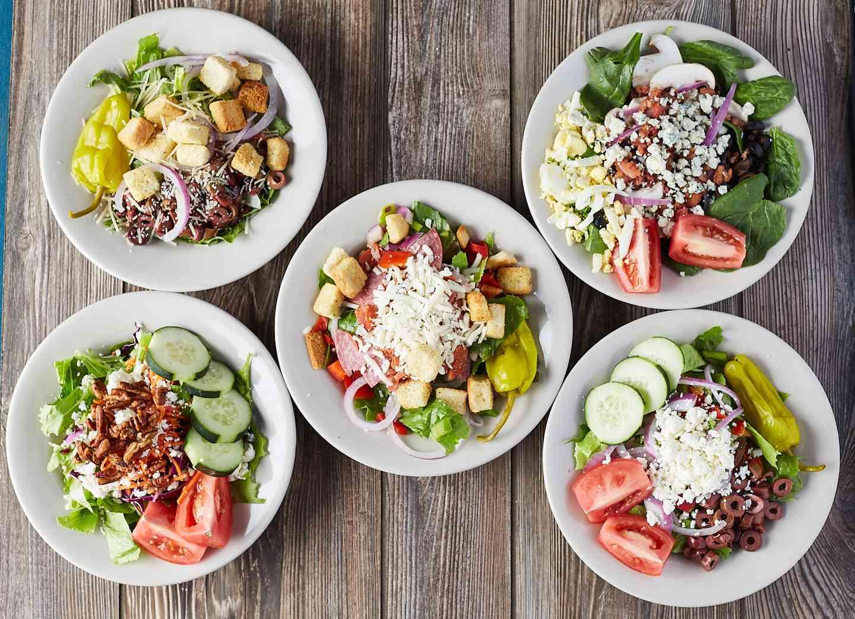 5 Bowls of Salad