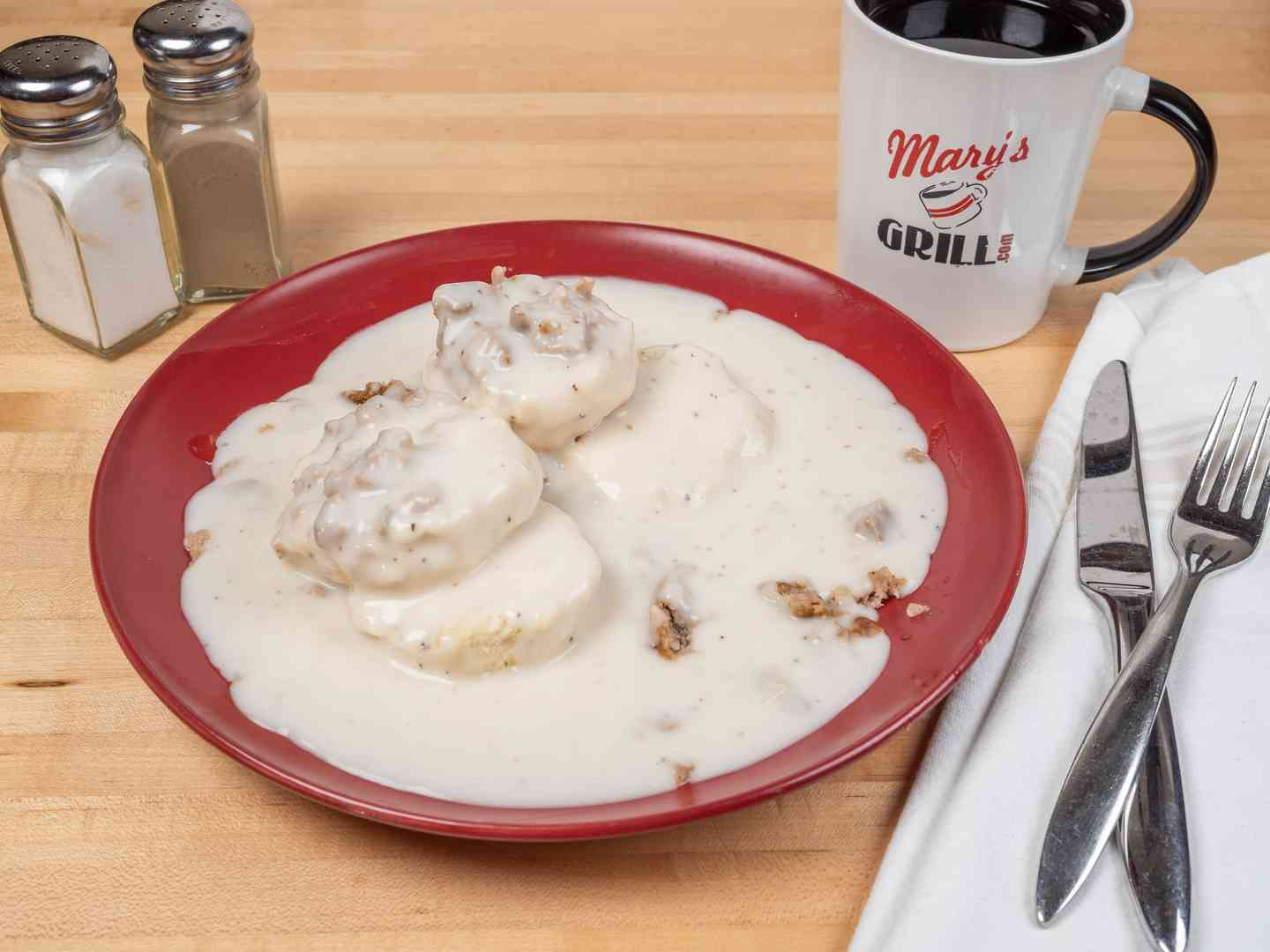 Full Sausage Biscuits & Gravy