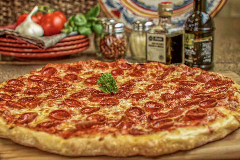 large pepperoni pizza