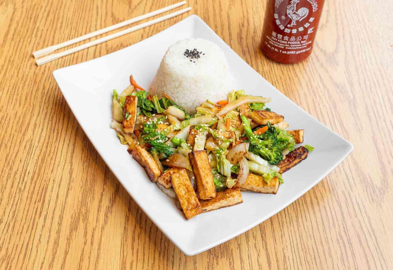 Spicy Tofu Rice 辣豆腐飯