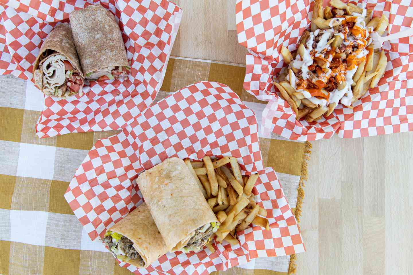 wraps and fries
